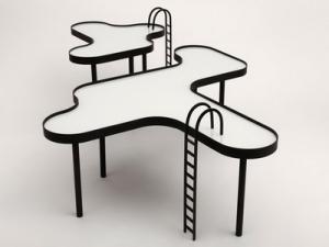 Дизайнерская оригинальность: стол в виде бассейна