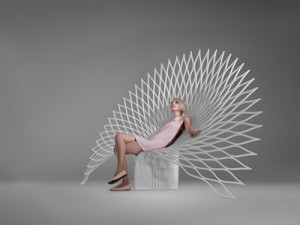Канадские дизайнеры изготовили из искусственного камня необычное кресло