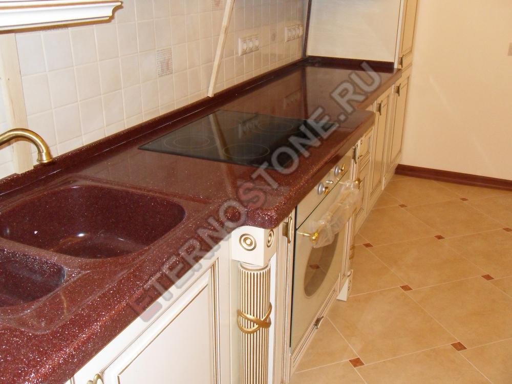 Столешница из искусственного камня люберцы кухонный стол из камня Мякинино