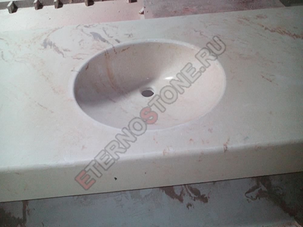 Раковина-столешница из литьевого мрамора столешница для ванной комнаты из плитки